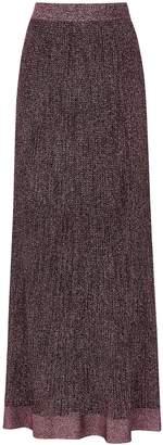 M Missoni Pink Metallic-knit Maxi Skirt