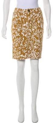 Current/Elliott Knee-Length Print Skirt