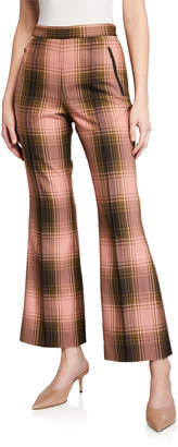 Rachel Comey Luca Plaid Flare Pants