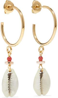 Isabel Marant Gold-tone Shell Earrings - one size