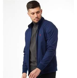 U.S. Polo Assn. Mens Bickford Harrington Jacket Medieval Blue