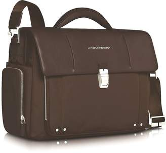 "Piquadro Link - Front Pocket Double Gusset 15"" Laptop Briefcase"