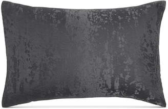 Donna Karan Home Moonscape Reversible Textured Jacquard Charcoal Standard Sham