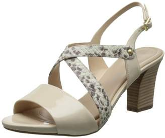 Rockport Women's Seven to 7 Mid Heel Cross Band Sling Sandal