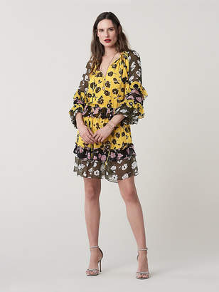 Diane von Furstenberg Haven Silk Drop-Waist Dress