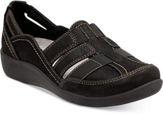 918ac20e1f2624 Clarks Collection Women Cloud Steppers Sillian Stork Flats Women Shoes