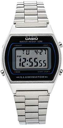 Casio B640WD1A Unisex Metal Watch - Black/Silver