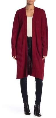 Lush Ribbed Knit Duster Cardigan