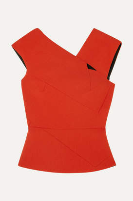Roland Mouret Florence Cutout Wool-crepe Top - Orange