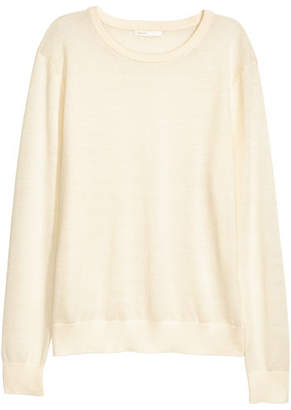 H&M Knit Wool Sweater - White