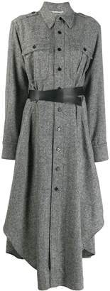Stella McCartney belted tweed shirt dress