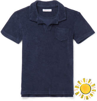 Orlebar Brown Boys Ages 4 - 12 Digby Cotton-Terry Polo Shirt - Navy