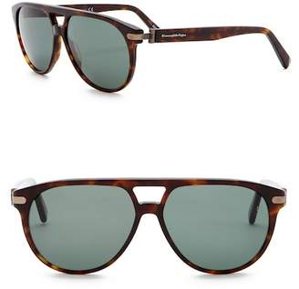 Ermenegildo Zegna 59mm Aviator Sunglasses