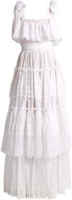 Dolce & Gabbana Cotton-mousseline lace-trimmed gown