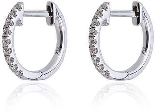 Rosa De La Cruz White Gold diamond hoops