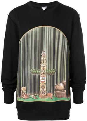 Loewe window totem print sweatshirt
