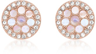 Fossil Vintage Glitz Rose Gold Tone Studs Earrings