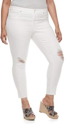 JLO by Jennifer Lopez Plus Size Destructed Super Skinny Jeans