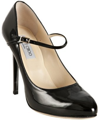 Jimmy Choo black patent leather 'Griffin' mary-jane pumps