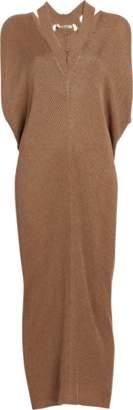 Roberto Cavalli Rib Cut Out Knit Dress