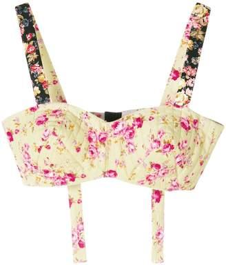 Natasha Zinko floral print bralette