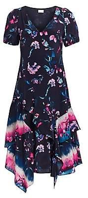 Tanya Taylor Women's Estrella Floral Ruffle Dress - Size 0