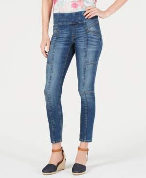 Style&Co. Style & Co Seam-Front Pull-On Jeans, Created for Macy's