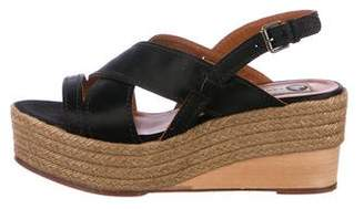 Lanvin Leather Espadrilles Wedges
