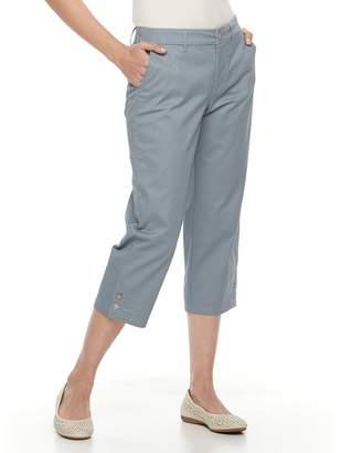 Croft & Barrow Women's Effortless Stretch Twill Capri Pants
