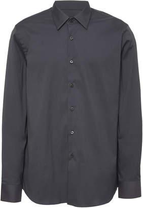 Prada Cotton-Blend Poplin Button-Up Shirt Size: 39