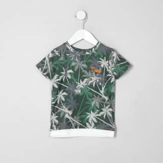 River Island Mini boys khaki palm tree print T-shirt
