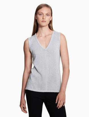 Calvin Klein lurex v-neck sleeveless top