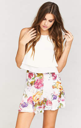 Show Me Your Mumu Skater Stretch Skirt ~ Best Friend Floral