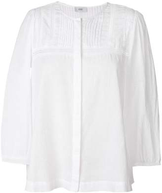 Closed embroidered peasant blouse