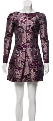 Nina Ricci Floral Embroidered Brocade Dress w/ Tags