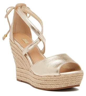 UGG Reagan Metallic Wedge Sandal