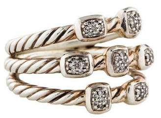 David Yurman Diamond Confetti Three Row Ring