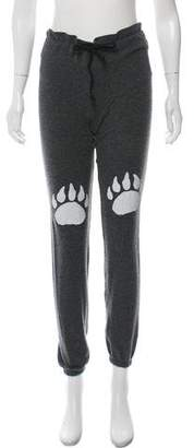 Wildfox Couture Mid-Rise Printed Joggers