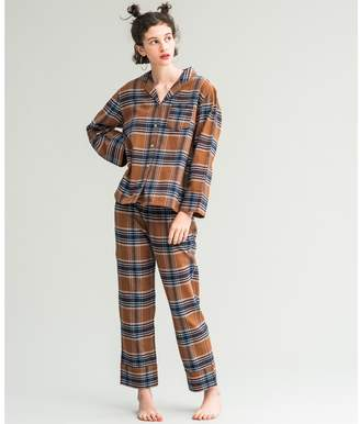 Amphi (アンフィ) - AMPHI コットンチェックネルシャツ パジャマ