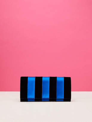 Diane von Furstenberg East West Velvet Clutch