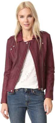 IRO Han Leather Jacket $1,265 thestylecure.com