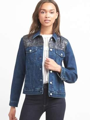 Gap Icon metallic denim jacket