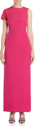 Akris Silk One-Sleeve Maxi Dress