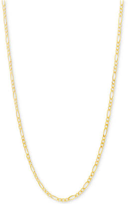 "Italian Gold Figaro Link Chain 22"" Necklace (2-3/8mm) in 10k Gold"