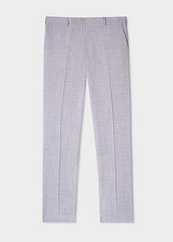 Paul Smith Men's Slim-Fit Grey-Violet Wool Trousers