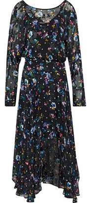 Preen by Thornton Bregazzi Norma Printed Silk-Blend Devoré-Velvet Midi Dress