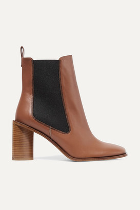 Acne Studios Bethany Leather Ankle Boots - Tan