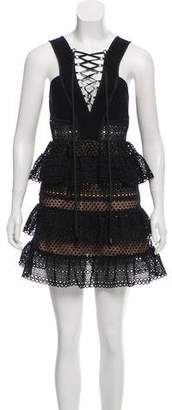 Self-Portrait Ruffle Mini Dress w/ Tags