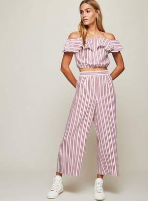 Miss Selfridge Red striped cropped trousers