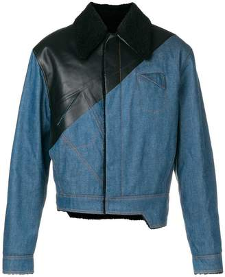 Pihakapi two tone asymmetric zipped jacket